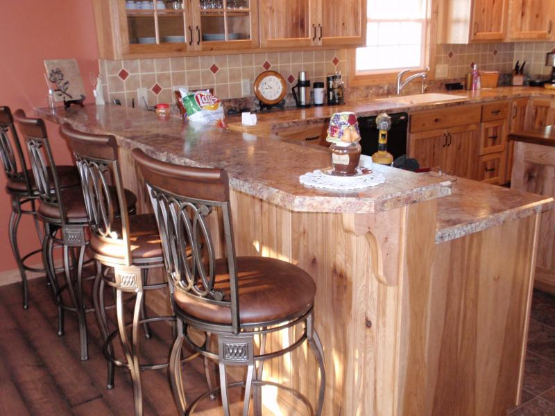 Rustic Kitchen Island Bar